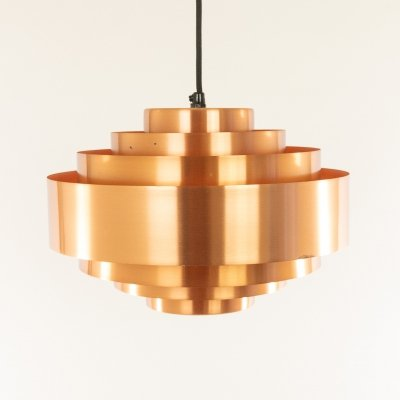 Copper Ultra pendant by Jo Hammerborg for Fog & Mørup, 1960s