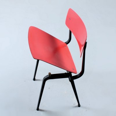 Rare Revolt theatre chair by Friso Kramer for Ahrend de Cirkel, 1950s