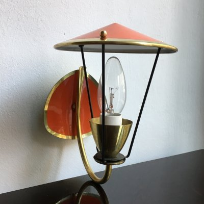 Mid-Century Brass Wall Light, 1950s