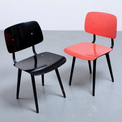 Pair of Revolt dining chairs by Friso Kramer for Ahrend de Cirkel, 1950s