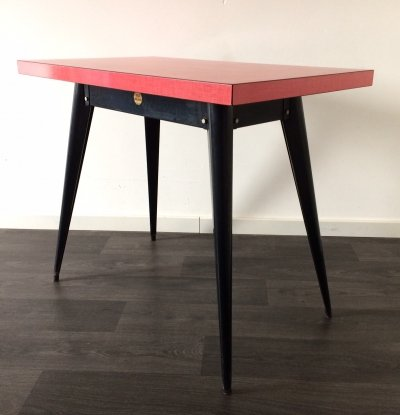Vintage Midcentury Industrial Design Tolix Bistro Table by Xavier Pauchard, 1950s