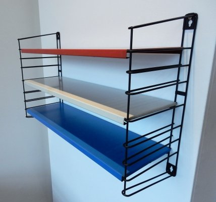 Metal shelving unit by A.D. Dekker for Tomado, The Netherlands 1960's