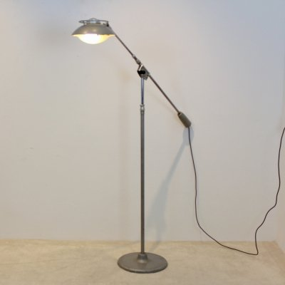 'Model 219S' Industrial Floor Lamp by Louis Ferdinand Solère for Solere