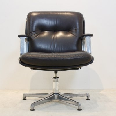 Vaghi Executive Leather Swivel Chair, Italy