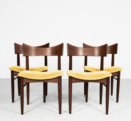Set of 4 Danish dining chairs in teak, 1960s