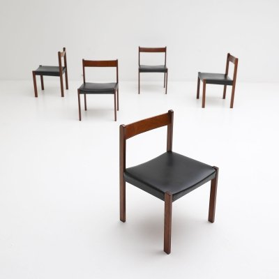 Set of 5 dining chairs by Alfred Hendrickx for Belform, 1970s