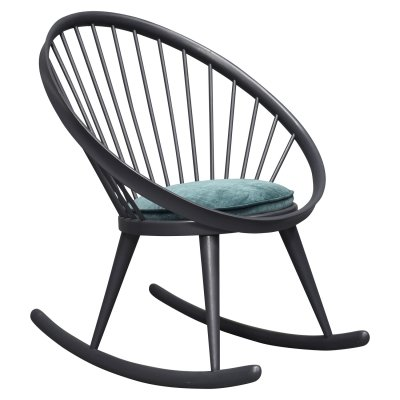 Yngve Ekström 'circle' rocking chair, Sweden 1960s