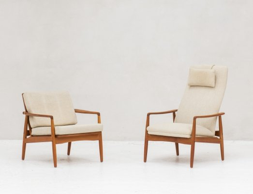 Pair of lounge chairs by Søren Ladefoged for SL Mobler Denmark, 1960s