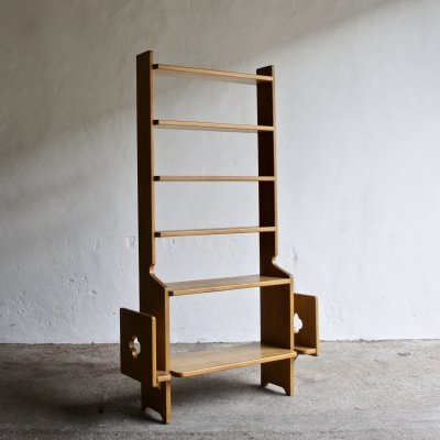 1960's Oak Book Shelf by Guillerme Et Chambron for Votre Maison