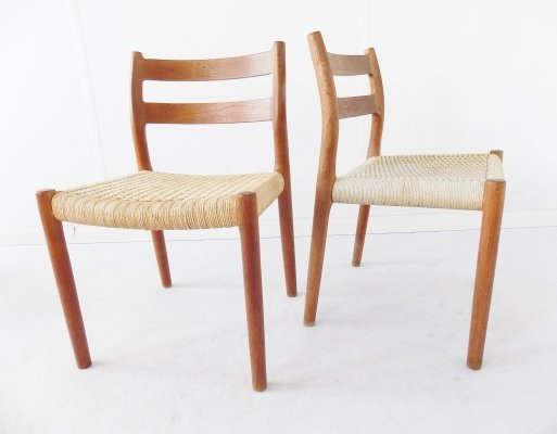 Pair of Model 84 dining chairs by Niels O. Møller, 1960s