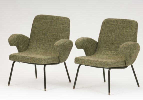 Pair of Alan Fuchs arm chairs, 1950s