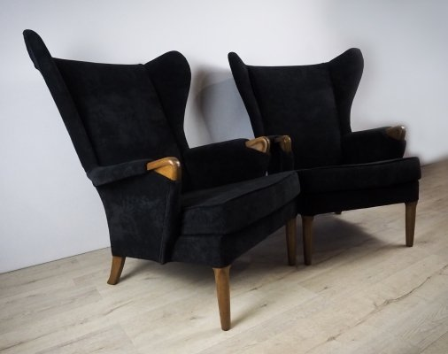 Pair of Mid-Century Wingback Armchairs from Parker Knoll, 1960s