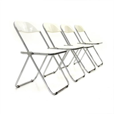 Set of 4 Pila dining chairs by Giancarlo Piretti for Anonima Castelli, 1950s