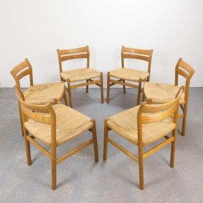Set of 6 BM1 Dining Chairs by Børge Mogensen, Denmark 1960s