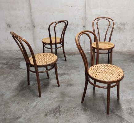 Set of 4 Dining Chairs by ZPM Radomsko, 1950s