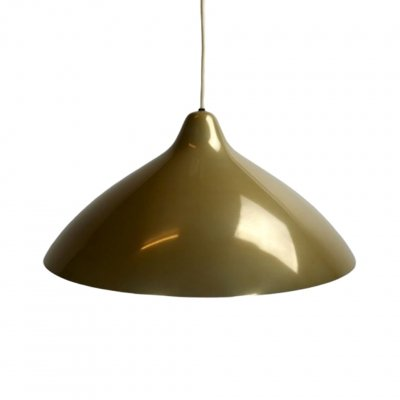 Gold Metal pendant light by Lisa Johansson Pape for Stockmann Orno, 1950s