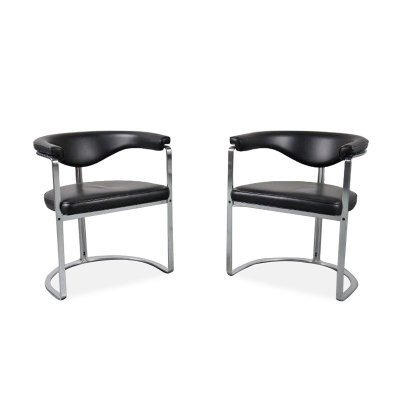 Pair of Horst Brüning dining chairs for Kill International, Germany 1968