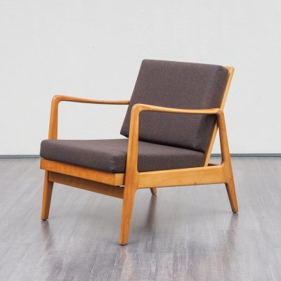 Solid Wooden Armchair, 1960s