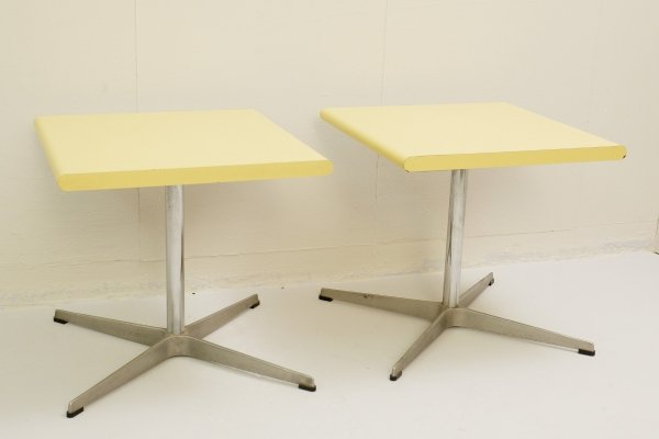 2 x Fritz Hansen Side Table, 1960s