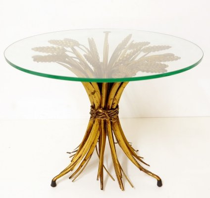 Coco Chanel Style Gilt Metal Coffee Table, France 1960s