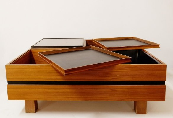 Italian Square Coffee Table, 1960s