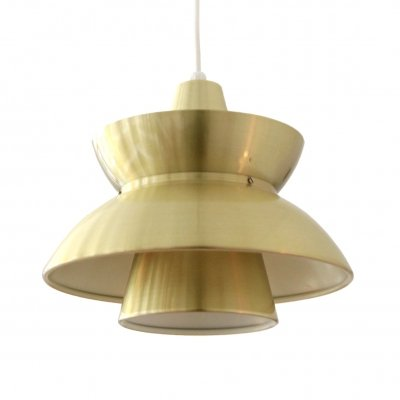 Jorn Utzon gold colored Søværnspendel hanging lamp