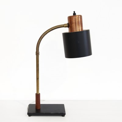 Copper & brass Beta table lamp by Jo Hammerborg for Fog & Morup