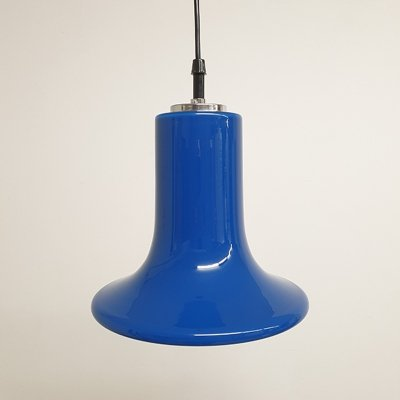 Blue Pendant Lamp by Peill & Putzler, 1980s