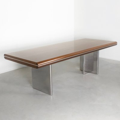 Large Dining Table by Hans von Klier for Skipper, 1970s