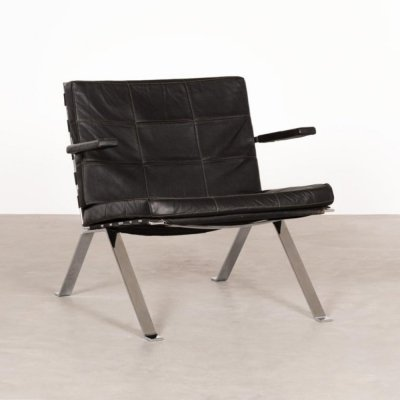 Leather Model 1600 Girsberger armchair by Hans Eichenberger, 1960s