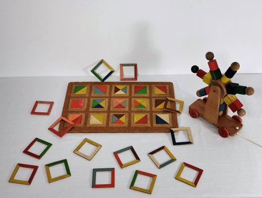 Mid-Century Dutch Wooden Toy's, 1950's