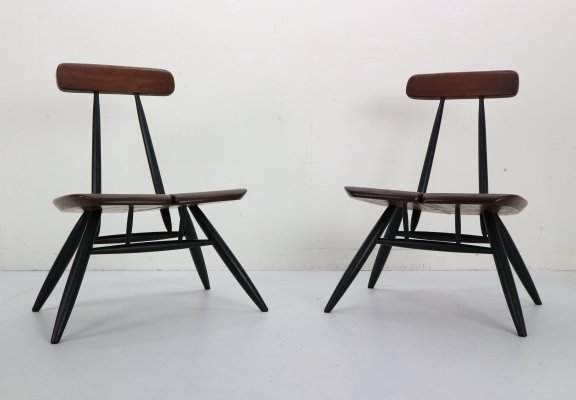 Set of 2 Ilmari Tapiovaara Pirkka Lounge Chairs, Finland 1955