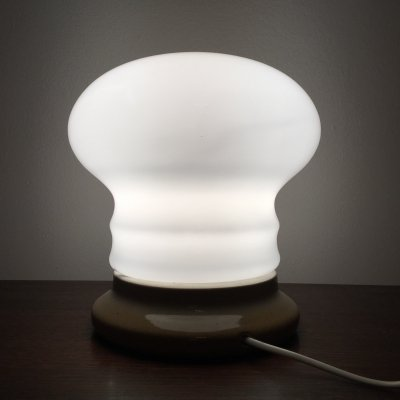 White Glass Table Lamp by Ivan Jakes, 1960s