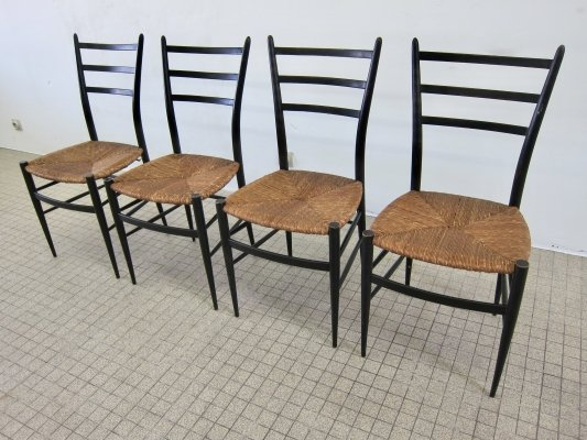 Set of 4 Chiavari Spinetto dining chairs, 1950s