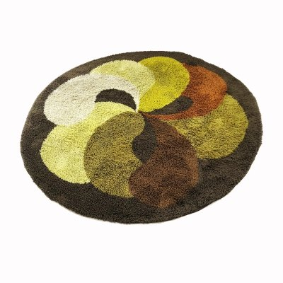 Extra Large Modernist Multi-Color High Pile Rya Rug by Desso, Netherlands 1930s