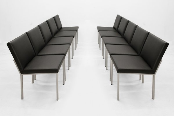 Set of 10 Waiting room chairs by Alfred Hendrickx, 1960s