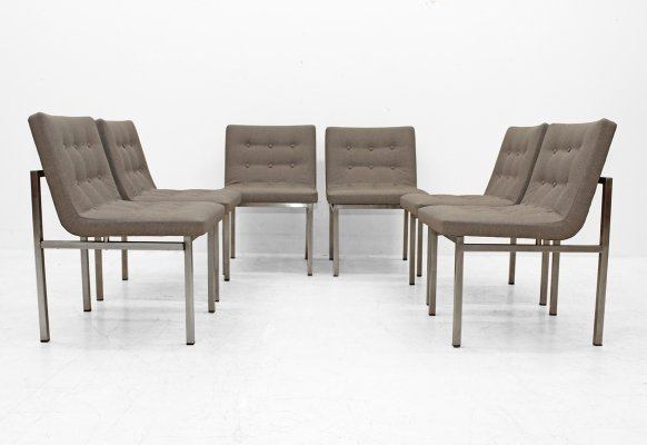 Set of six massive chairs by Alfred Hendrickx for Belform, 1960s