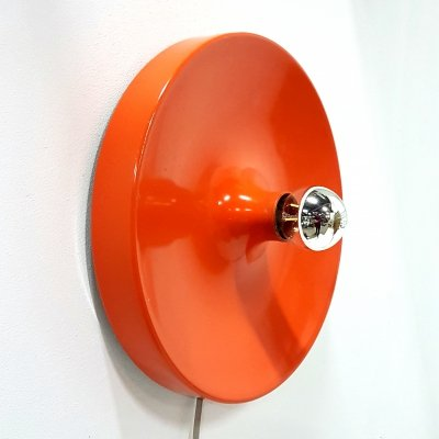 Space age orange wall lamp, 1960s