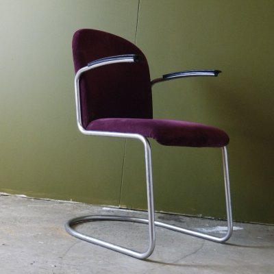Model 413 arm chair by W. Gispen for Gispen, 1950s