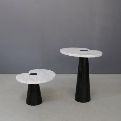 Pair of Marble Eros coffee tables by Angelo Mangiarotti for Skipper, 1970s