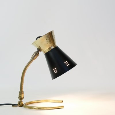 Little gold & black lamp from the fifties