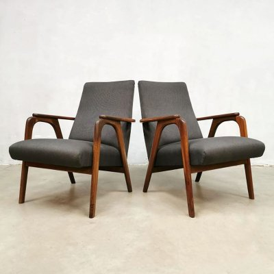 Set of 2 vintage design armchairs, 1960s