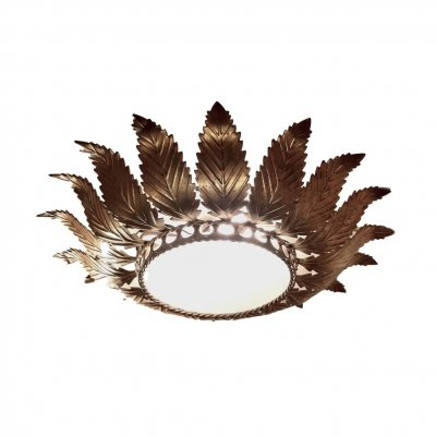 Art Deco Acanthus Leaf Flush Mount