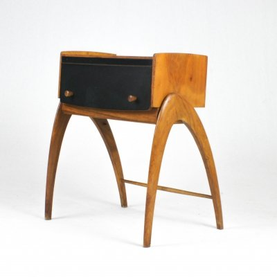 Night stand with (secret) storage by Alfred Zirbel for Friedrich Quast, Germany 1950s