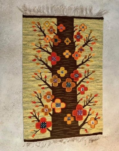Polish Kilim Art Rug by Cepelia, 1960s
