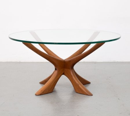 Coffee table by Illum Wikkelsø for Niels Eilersen, 1960s