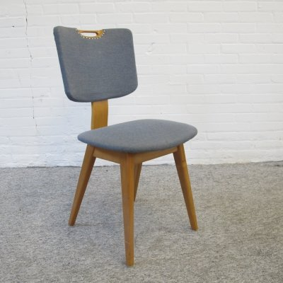 Vintage birch wood dining chair, 1950s