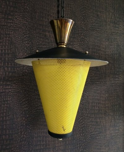 1950's French Design Lantern Hanging Pendant Lamp