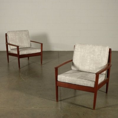 Pair of Armchairs by Grete Jalk for Poul Jeppesen