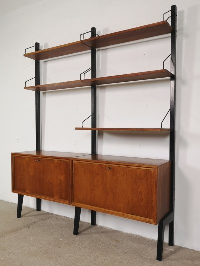 Two piece Royal System wall unit by Poul Cadovius, 1960s